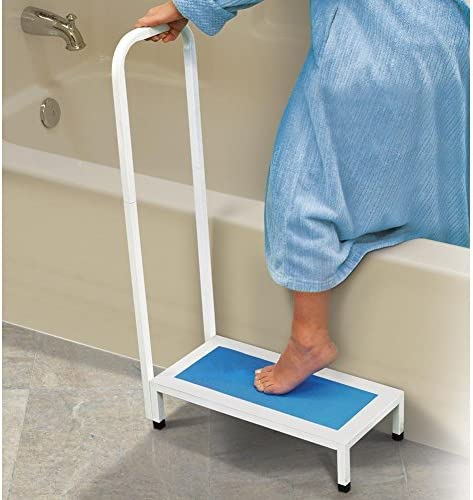 Jobar International Bath Step with Handle White Blue product image