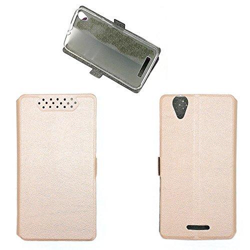 QiongniAN Hülle für Acer Liquid Z630S T04 Hülle Schutzhülle Hülle Cover Pink Gold