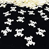 Prank Scary Party Skull Confetti Pirate Party Supplies Decoration of Haunted House Glitter Metallic Foil Special Event, Cool Danger Sign Mark Table Scatters Confetti for Party Decorations DIY