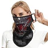 JOEYOUNG Bandana máscara facial bufanda cara Rave pasamontañas cuello polainas paño polvo lavable viento motocicleta máscara mujeres hombres