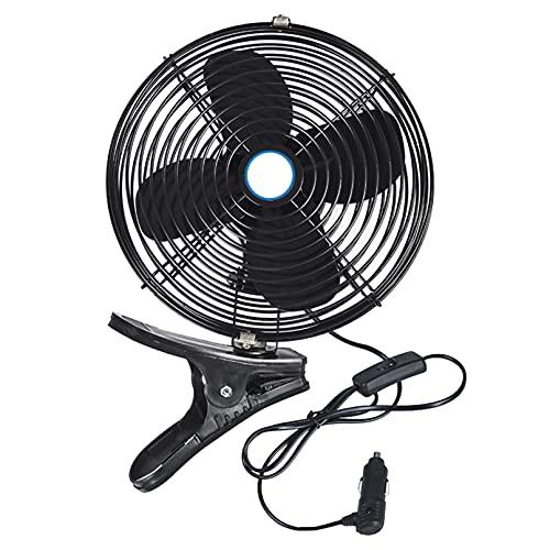 ADASP Ventilador para automóvil 12V / 24V 8 '' Ventilador de Techo para automóvil Ventilador Giratorio para automóvil Ventilación Potente y Enchufe para Encendedor