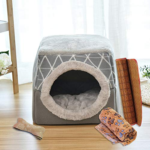 CYGJ Geschlossene Hundehütte der Katzennestkapsel Grau (Vierteiliges Set) XL