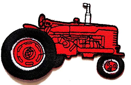 Buy Bargain Nipitshop Patches Red Car No roof Tractor Farm Tractor Cartoon Children Kids Embroidered...