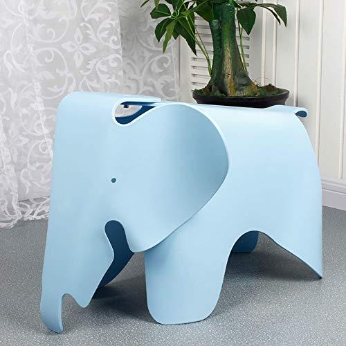Paddia Kreative Umweltschutz Schöne Kinder Elefant Kunststoff Niedrigen Hocker Zeitgenössisches Design Kinder Möbel Spielzeug Stuhl Multicolor (Color : Blue)