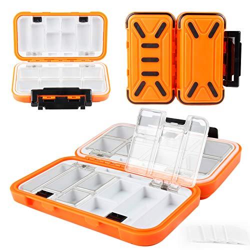 REAWOW impermeabile Scatola per Esche Artificiali Scatole per accessori da pesca 16 scomparti impermeabili e portatili per attrezzatura da pesca, in plastica, per piccoli accessori da pesca