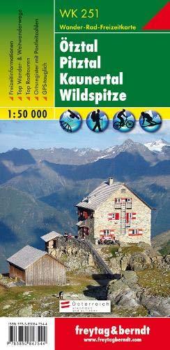 WK 251, Ötztal - Pitztal - Kaunertal - Wildspitze, Wanderkarte 1:50 000, Freytag Berndt Wanderkarten