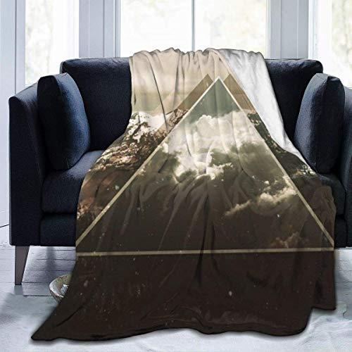 July deken van Molton, flanel, Snow Mountain Triangel, dekbed van microvezel, zeer zacht en comfortabel