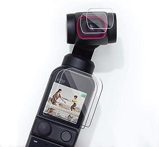 【Taisioner】DJI OSMO POCKET2用フィルム 高透過率 レンズ保護 スクリーン保護 指紋防止 気泡ゼロ メイン画面用*2枚とレンズ用*2枚 (DJI OSMO POCKET2用)