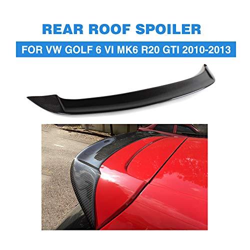 HJKSHS Carbon-Faser-Dachspoiler Flügel Lip unterstützt Volkswagen VW Golf 6 MK6 VI GTI R20 2010-2013 Nicht für Standard-,Carbonfiber