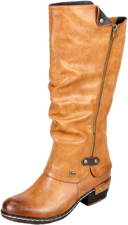 Rieker Women's Bernatette 55 Cayenne Synthetic Boots