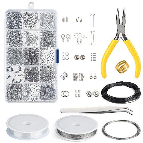 KUUQA Schmuckherstellung Kit, Schmuck Reparatur Kit, die bilden und Reparatur-Werkzeug-Installationssatz bilden