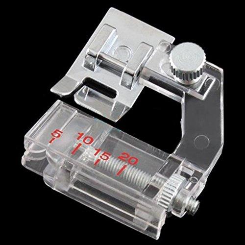 Pie prensatelas para cinta al bies ajustable; prensatelas para máquinas de coser de uso...