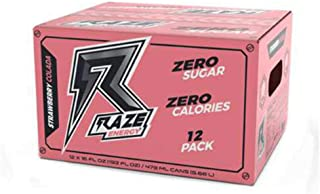 Raze Energy Drink   Performance and Hydration   Sugar Free, Zero Calorie Energy Drink - Strawberry Colada 12 Pack