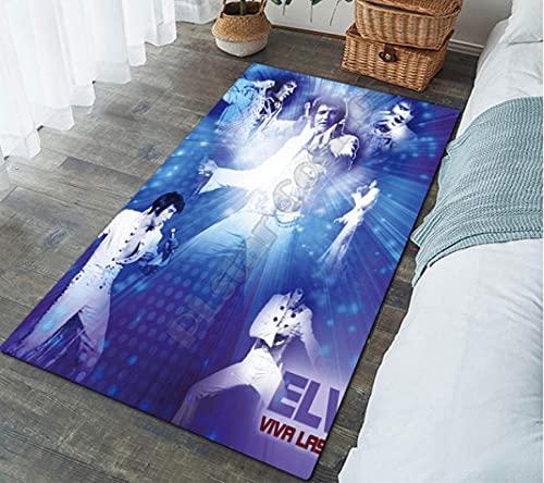 HUABUDAYIN Famoso Maestro Cantante Art Floor Mat Impresión 3D Alfombra Antideslizante Alfombra Dormitorio Sala de Estar Hogar Felpudo 80x120cm
