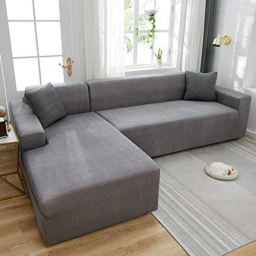 Fundas de sofá para Sala de Estar, Dormitorio, Cocina, Comedor 3 plazas, Funda de sofá elástica con Todo Incluido Funda de sofá para Sala de Estar, Funda elástica en Forma de L Spandex 190-230cm