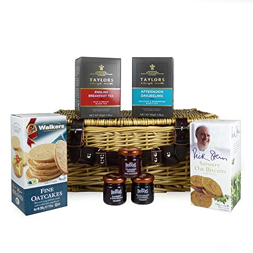 Tea Gift – Breakfast in Bed with Savoury Biscuits and Jams Wicker Food Hamper - Perfect for Mum, Valentines, Mothers Day, Birthday, Thank You, Anniversary, Grandma, Corporate, Christmas