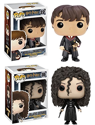 Funko POP! Harry Potter: Neville Longbottom con el uniforme de Hogwarts + Bellatrix Lestrange