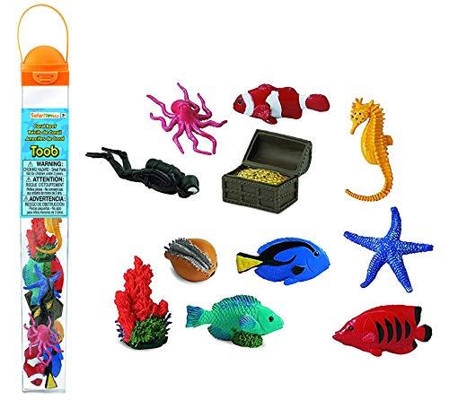 Safari 699104 Korallen Riff Sammelfiguren in der Röhre