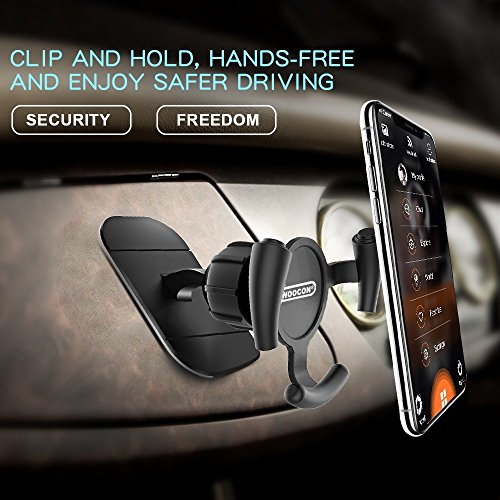 Car Phone Mount,Woocon Car Mount 360° Rotation & Holder Cable Clip,Universal Stick on Dashboard