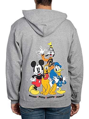 Disney Hoodie Mickey Mouse Donald Goofy Pluto Zip Up
