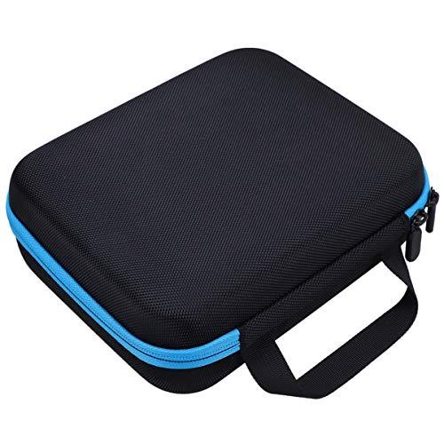 Hemoton Essential Oil Bottle Bag EVA 30 Slots Bottle Case Makeup Accessory Bag for Travel Home (Blue, Black)
