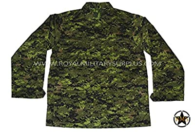 Royal Military Surplus Combat BDU Shirt - Canada Army Digital Camoulfage - Airsoft & Paintball Gear - CADPAT (Temperate Woodland)