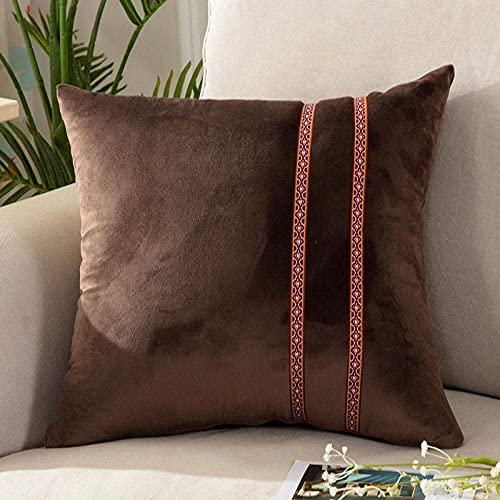 LUCAR Almohadas para Dormir de Ropa de Cama - Almohadas Parte Frontal y durmientes Laterales -eep Coffee_60 * 60 cm (Color : Deep Coffee, Size : 60 * 60cm)