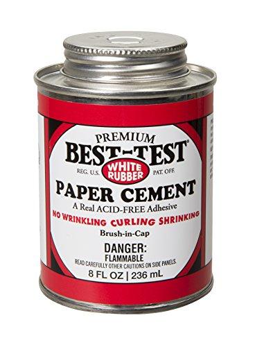 best-test Cemento, 8-Ounce de papel de goma, color blanco