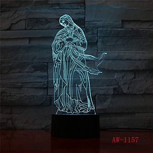 Acrílico 3D Led Luz De Noche Ilusión Luz Óptica De Jesucristo Insta