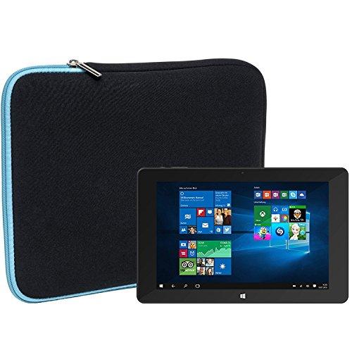 Slabo Tablet Tasche Schutzhülle für TrekStor SurfTab Duo W1 Hülle Etui Hülle Phablet aus Neopren – TÜRKIS/SCHWARZ