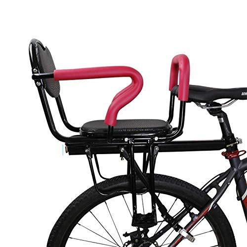 CRMY Asientos Traseros De Seguridad para Niños En Bicicleta, Asiento De Bicicleta para Niños, Asiento De Bici para Bebés Y Niños Pequeños con Pedales De Respaldo para Niños De 2 A 8 Años