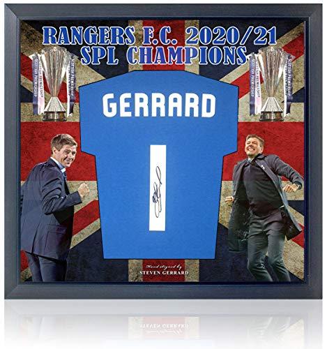 British Sports Museum Steven Gerrard Rangers F.C. Trikot SPL Champions Präsentation AFTAL COA