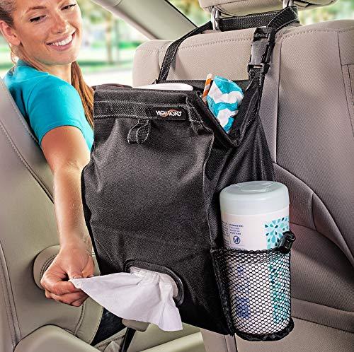High Road Backseat Car Organizer with Trash Bin and Car Tissue Holder