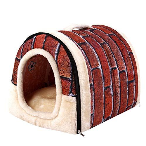 STRIR 2 en 1 Cómodo Casa para Mascotas y Sofá, Interiores y Exteriores Portátil Plegable de Cama para Perro/Cama para Gato. Una Casa Caliente para su Mascota (S)