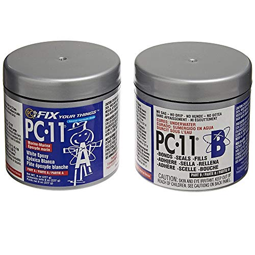 PC-Products PC-11 Epoxy Adhesive Paste, Two-Part Marine Grade, 1/2lb...