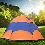 ZZPEO Tente Extérieure 5-8 Personne Double Couche Yourte Mongole Tente avec Moustiquaire Étanche Pliant Camping Pêche D'Été
