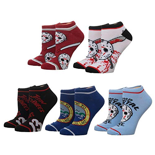 Bioworld Merchandising / Independent Sales Friday The 13th 5 Pair Ankle Socks Standard