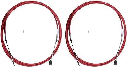 B Blesiya C/âble de Commade /à Distance Bo/îtier Changement de Vitesse de Hors-Bord Remplacement Cable 11ft 2 Pi/èces