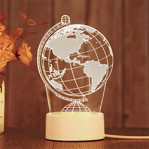 Stecker Modelle 3D Nachtlicht Geburtstagsgeschenk Quallenlampe führte dekorative Tischlampe Flutlicht Schlafzimmer Nachttischlampe Paar Geschenk-Globus