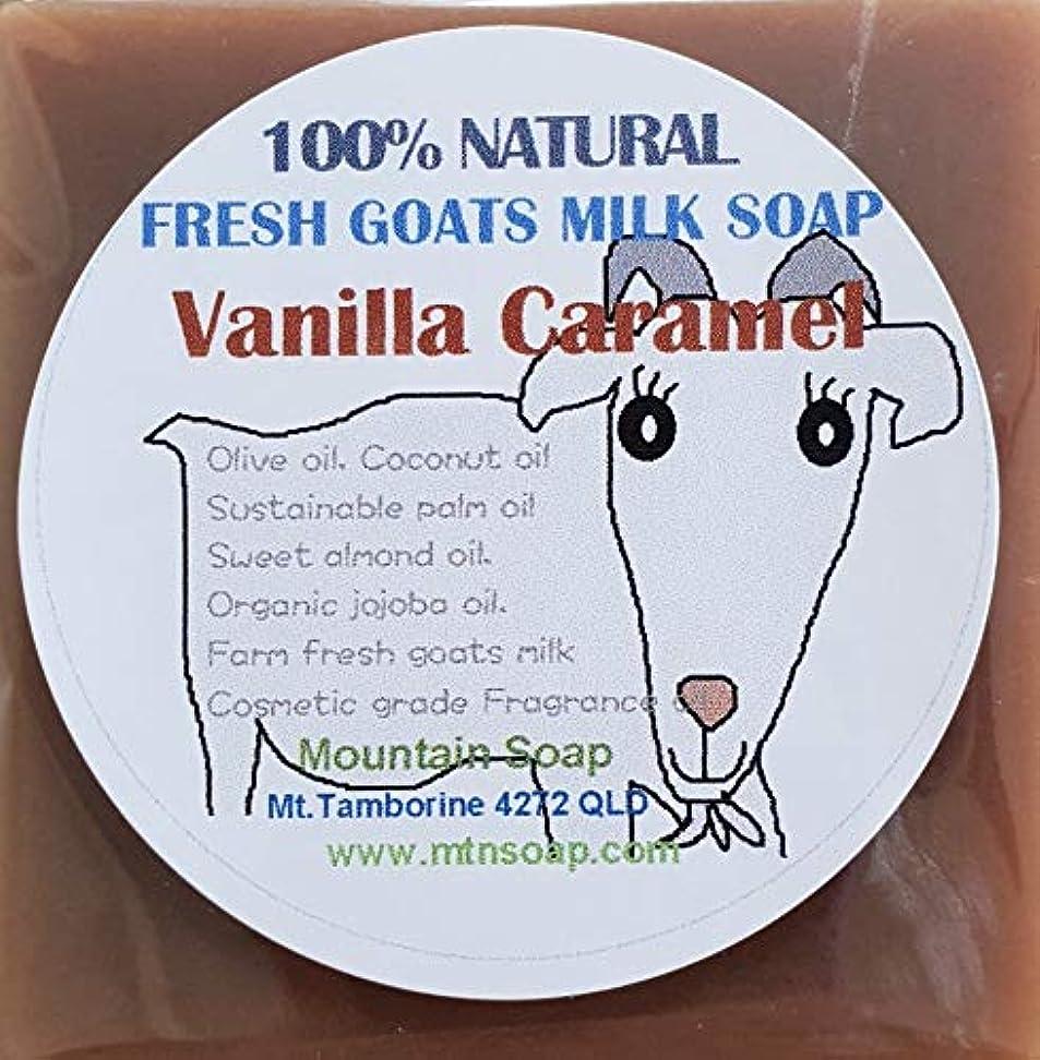 リハーサルピット多様な【Mountain Soap】農場直送絞りたてゴートミルク生乳使用 ゴートミルク石鹸 バニラキャラメル