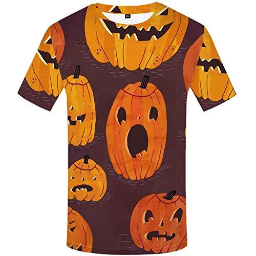 Zaima Unisex Halloween 3D Camiseta Impresa Pullover Casual Deportes Manga Corta Pesadilla Antes De Navidad DiseO Delgado Tops Camiseta De Disfraz para Hombre