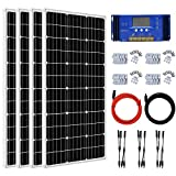 ECO-WORTHY 400 Watt Solar Panel Kit Off Grid with Solar Panels + Charge Controller + Brackets for Off Grid, RV, Cabins, Camping, Battery