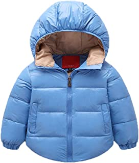Geetobby Kids Baby Winter Hooded Coat Jacket Thick Warm Zipper Outerwear Clothes