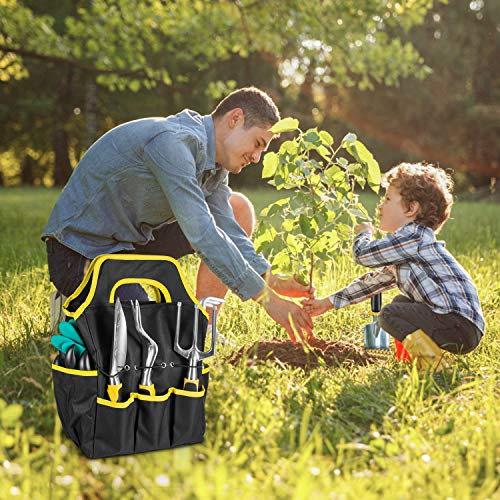 AUTUY Garden Tools for Gardening 31 Piece Aluminum Tool Kit with Storage Pocket Garden Tool Set Outdoor Hand Gardening Tools Gardening Gifts for Men Women
