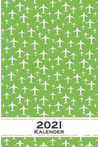 Flugzeug und Vögel Muster Kalender 2021: Jahreskalender für für Freunde der Symmetrie und Muster