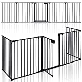 KIDUKU® Barrera de Seguridad 305 cm para Niños y Mascotas | Reja de Protección de Metal -...