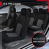 DBS - Housses de siège sur Mesure pour C4 Picasso (06/2013 à 2021) | Housse Voiture/Auto d'intérieur | Haut de Gamme | Jeu Complet en Tissu | Montage Rapide