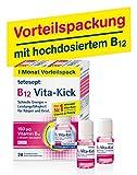 tetesept B12 Vita-Kick Trinkampullen 1 Monats-Vorteilspack – Ergänzungsmittel mit hochdosiertem...