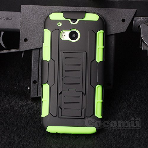 Cocomii Robot Armor HTC One M8/M8s Hülle NEU [Strapazierfähig] Erstklassig Gürtelclip Ständer Stoßfest Gehäuse [Militärisch Verteidiger] Ganzkörper Case Schutzhülle for HTC One M8 (R.Green)