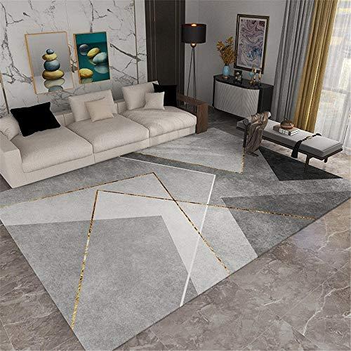 Kunsen alfombras en Rollo alfombras pie de Cama Slip de decoración de Alfombra Rectangular Suave Gris cojín meditación 200X300CM 6ft 6.7' X9ft 10.1'
